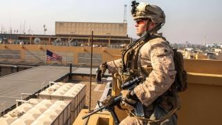 لا خسائر بشرية في هجوم صاروخي على قاعدة للتحالف ببغداد
