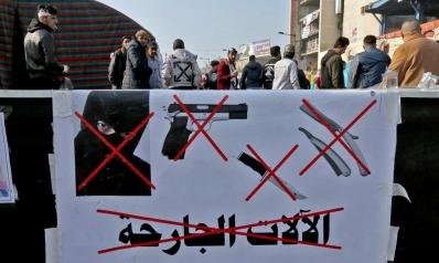 المسدسات الكاتمة للصوت تكتيك أنصار الصدر لتخويف المحتجين