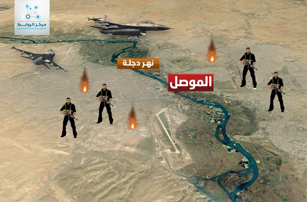 The siege of Mosul between ISIS  and  the International Alliance