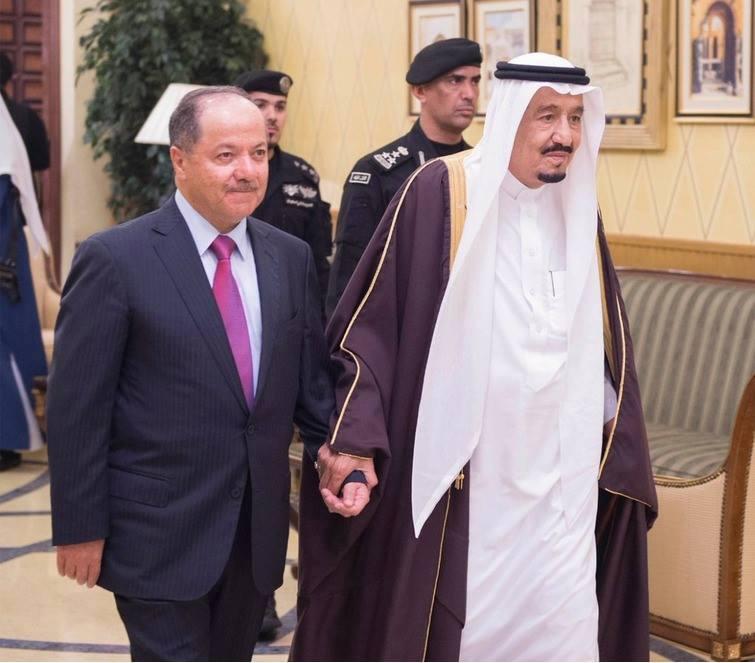 الملك سلمان والرئيس البارزاني ومرحلة التحالف الإقليمي