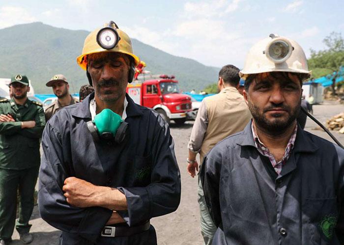 احتجاجات ضد روحاني خلال زيارته للمنجم المنهار بغولستان الإيرانية