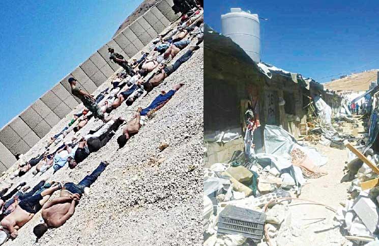 الجيش اللبناني يهين ويعتقل لاجئين سوريين بعد مداهمته مخيمات في عرسال