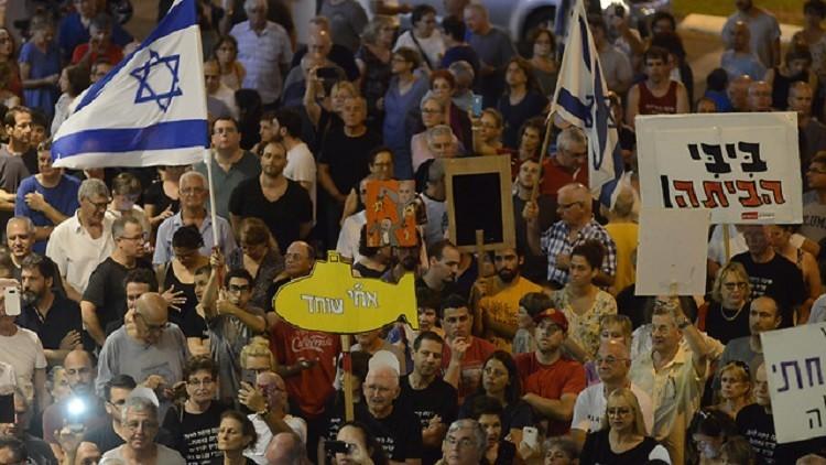 احتجاجات في إسرائيل ضد نتنياهو