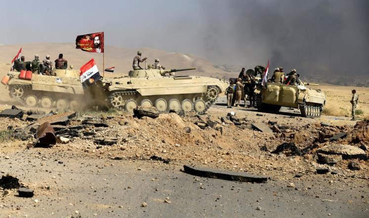 غارات عراقية على مواقع تنظيم الدولة بالقائم