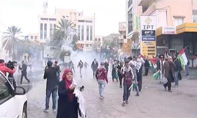 قوات الأمن تتصدى لمتظاهرين حول السفارة الأميركية ببيروت