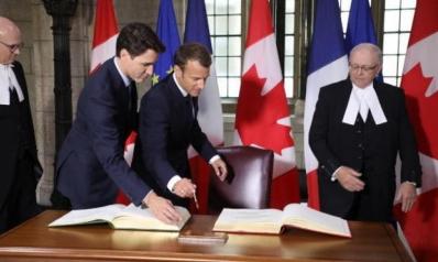 فرنسا وكندا تقرران تشكيل مجلس دفاع مشترك