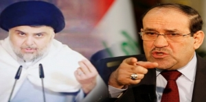 It raged again between Sadr and Maliki