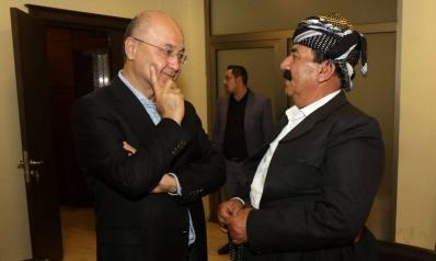 البارزاني يضع فيتو على ترشيح برهم صالح لرئاسة العراق