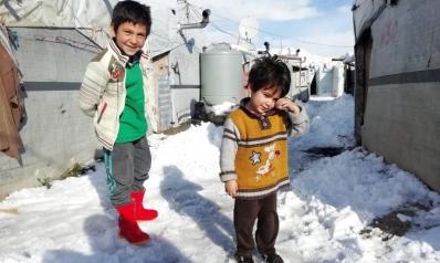 وفاة 15 طفلا بسبب البرد في مخيمات داخل سوريا