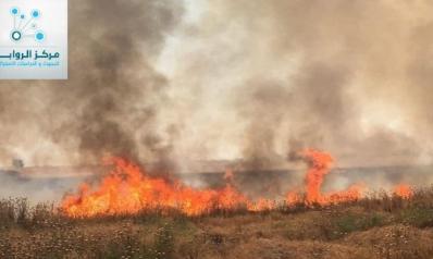 مزارع  العراق تحترق خسائر فادحة يتحملها المواطنون