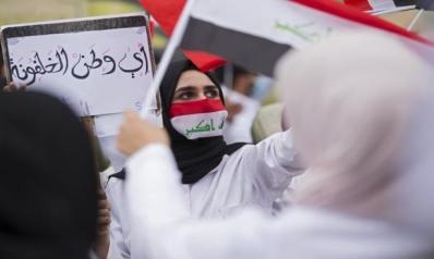"""""""فيسبوك"""" ساحة حرب المتظاهرين العراقيين وأحزاب السلطة"""