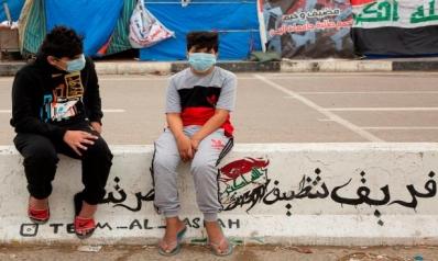 إجراءات وقائية من فيروس كورونا الجديد في ميادين احتجاجات العراق