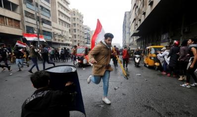 عشرات المصابين خلال مصادمات بساحة الخلاني في بغداد