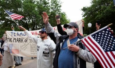 أنصار ترامب يحتجون ضد إجراءات الحجر الصحي والإغلاق