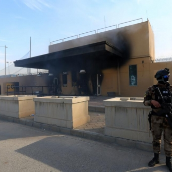 Security measures tightened in Baghdad with Washington threatening to close its embassy