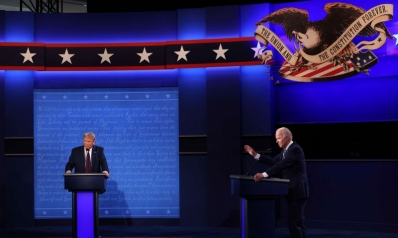 """بين """"جرو بوتين"""" ودمية اليسار"""".. المناظرة الأولى بين بايدن وترامب تنتهي إلى فوضى وصراخ"""