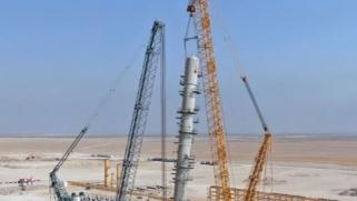 بطاقة إنتاج 400 مليون قدم مكعب.. الكاظمي يدشن أضخم برج لإنتاج الغاز في العراق