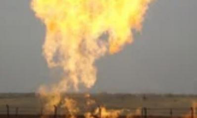 انفجار في خط أنابيب الغاز بين مصر وإسرائيل بمنطقة سبيكة