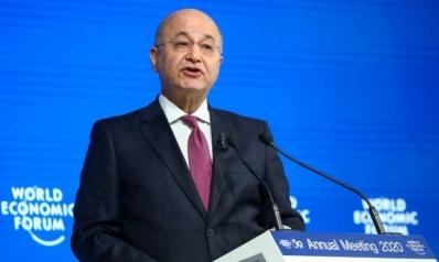 الرئيس العراقي يحث على خفض التوتر بالمنطقة