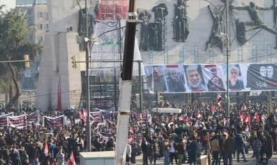 """حشود ببغداد لإحياء ذكرى اغتيال سليماني والمهندس.. وحزب الله العراقي يعلن موقفه من """"الثأر"""""""