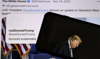 محاولات للالتفاف على حظر ترامب بتويتر ويوتيوب يغلق قناته وغوغل يمنع الإعلانات السياسية لمؤيديه
