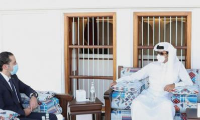 أمير قطر يستقبل الحريري ويدعو اللبنانيين للإسراع في تشكيل الحكومة