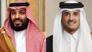 أمير دولة قطر يتلقى اتصالا هاتفيا من ولي العهد السعودي