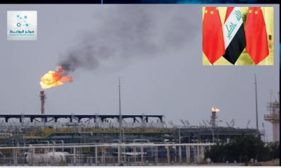 حوالي نصف صادرات النفط العراقية تصدر الى الصين، ولا يزال الاقتصاد العراقي الإنتاجي مشلول
