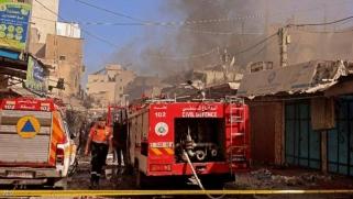 """قتيل و10 مصابون في انفجار """"غامض"""" وسط غزة"""