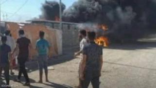 مأساة جديدة في مخيمات النزوح العراقية.. حريق يودي بحياة طفل