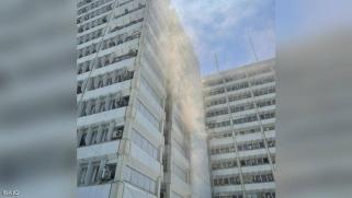 حريق هائل بوزارة الصحة العراقية