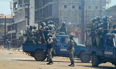إطلاق نار كثيف قرب القصر الرئاسي في العاصمة الغينية