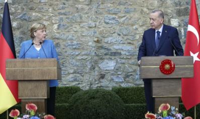 أردوغان وميركل يبحثان الهجرة غير النظامية وعلاقات تركيا بالاتحاد الأوروبي