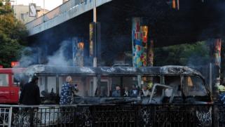 سوريا.. 14 قتيلا و3 جرحى بتفجير حافلة جنود وسط دمشق